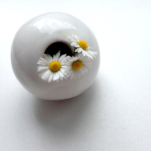 Vase céramique bouquet de pâquerette Zaichik-DIY