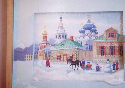Encadrement créatif réalisé par Zaichik-DIY sur une aquarelle russe
