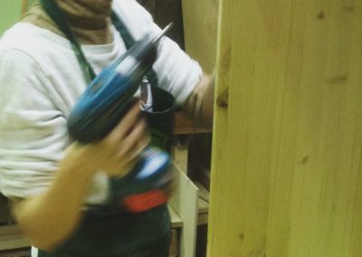 Menuiserie travail en cours Zaichik-DIY