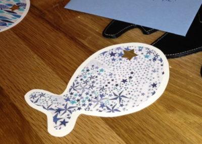 Papeterie carte d'anniversaire en forme de poisson Zaichik- DIY