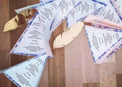 Papeterie menus de baptême en forme de tipi d´indien Zaichik-DIY