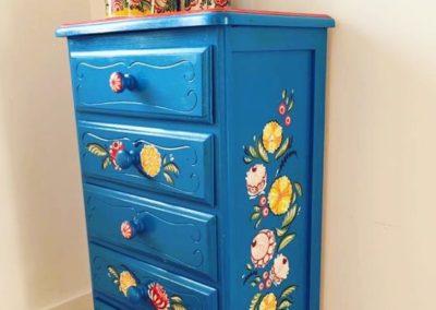 Relooking de meuble : Chiffonnier revu à la russe création originale Zaichik-DIY