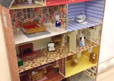 Cartonnage maison de poupée création originale Zaichik-DIY