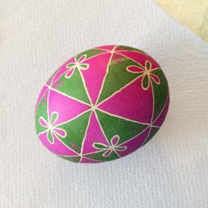 Mon oeuf peint de Pâques décoré