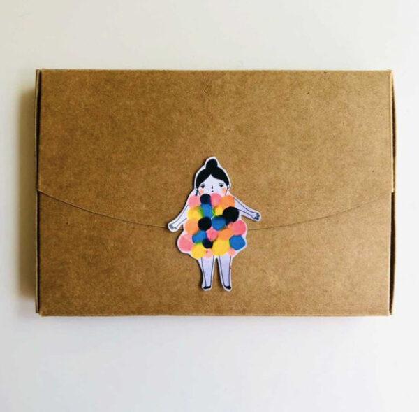 packaging broche bubble girl