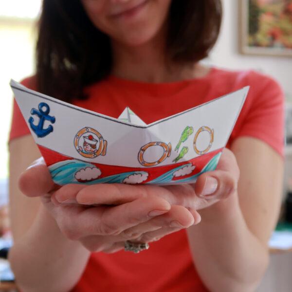 bateau pliage origami